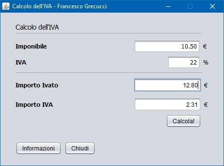 CalcoloIVA | GrecTech