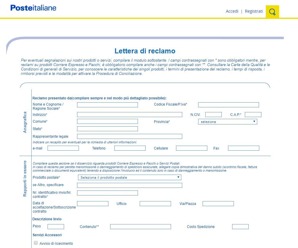LetteraReclamo | GrecTech