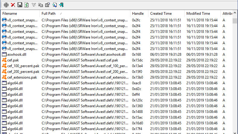 Come vedere i file su disco aperti dai processi in Windows
