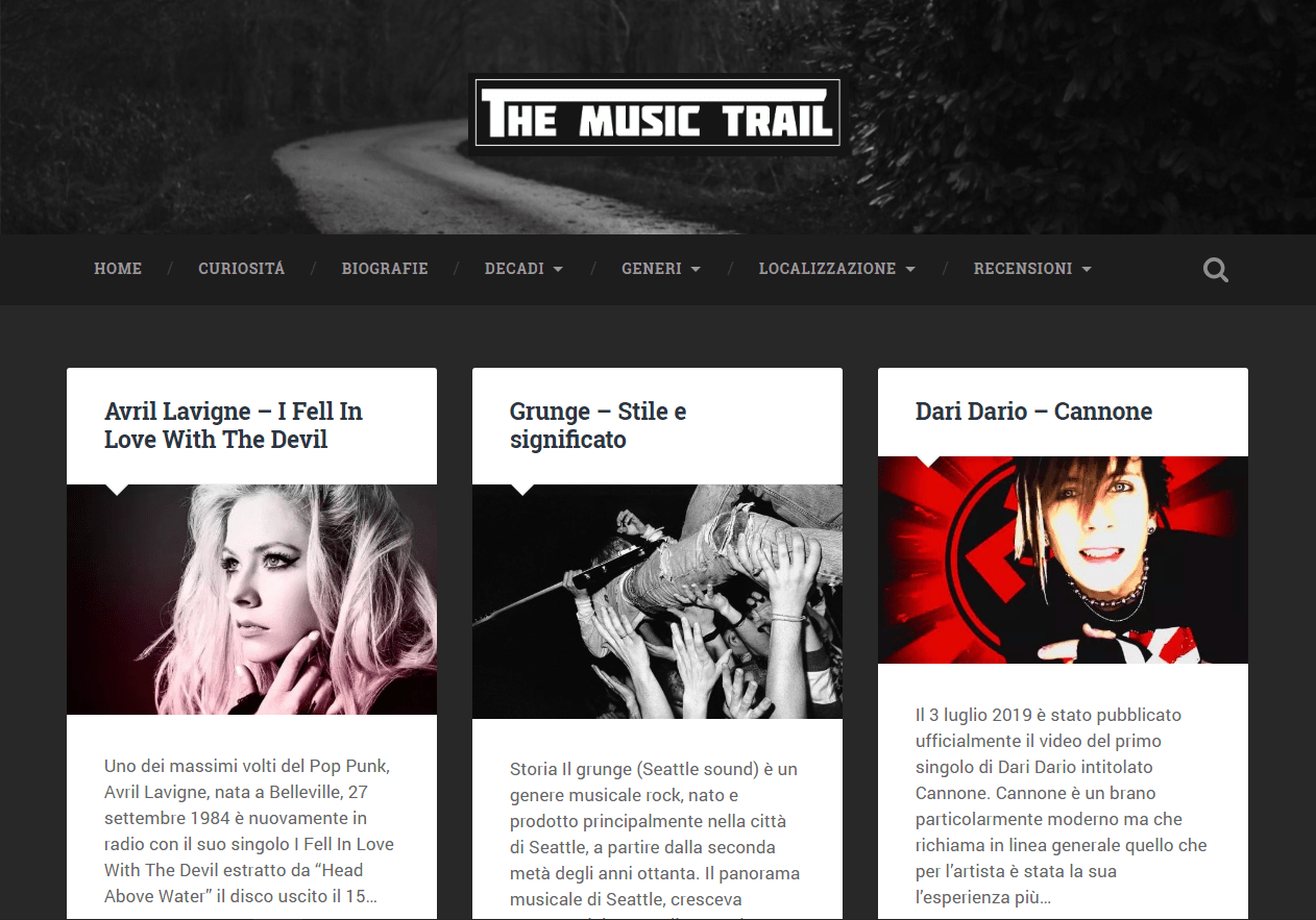 The Music Trail: blog di musica