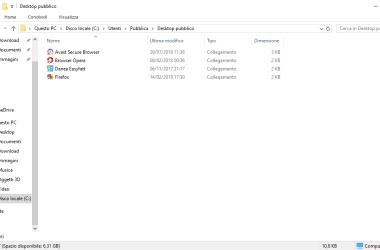 Icone del desktop in Windows 10