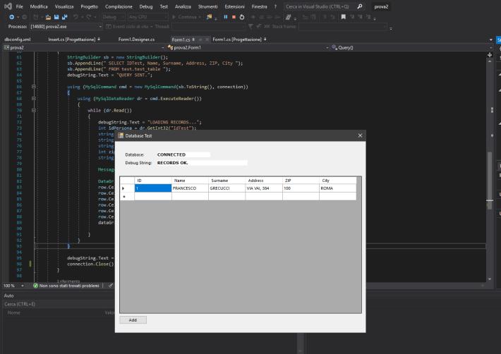 Come collegarsi ad un database MySQL in C#