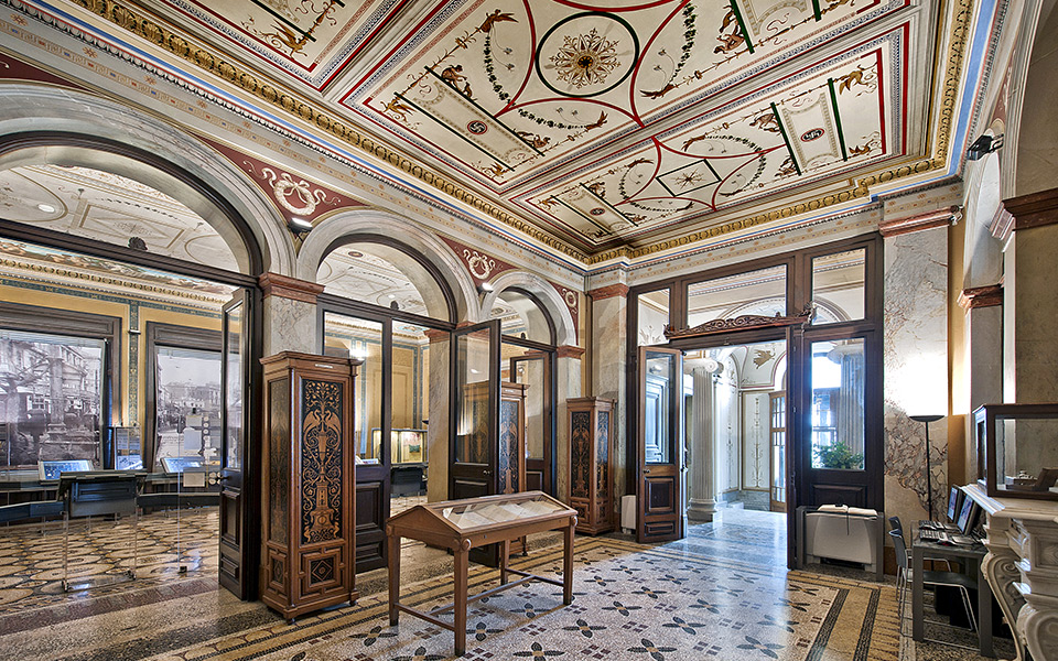 Athens  Neoclassical Gems   Greece Is Numismatic Museum with impressive interior wall paintings  Numismatic  Museum with impressive interior wall paintings