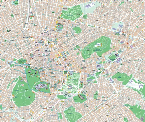 Athens map to download in high resolution   Greeka com Athens map to download