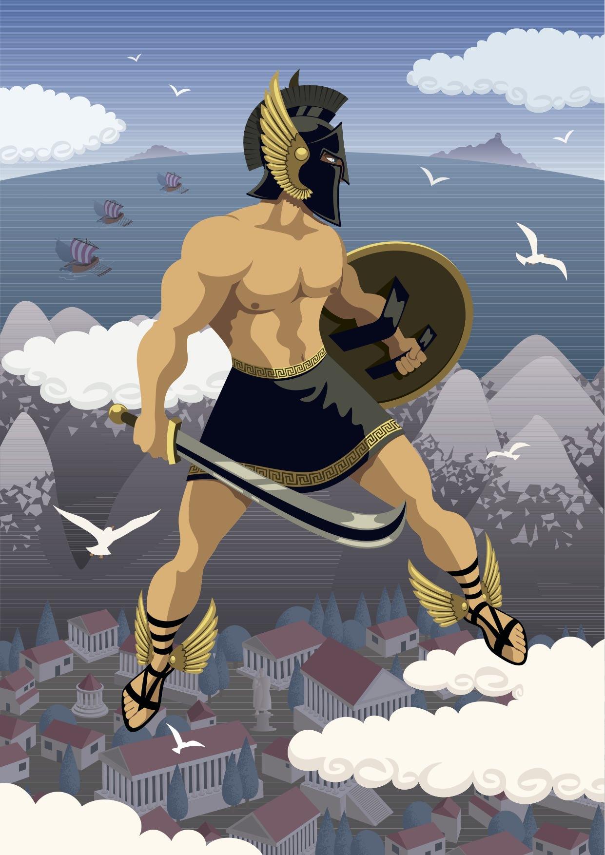 Birth Of The Greek Mythological Hero Perseus