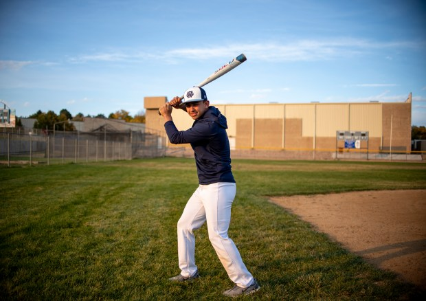 GREELEY, CO - OCTOBER 15:Ruben Araujo poses for a portrait before practice at the Dayspring Christian Academy baseball field in Greeley Oct. 15, 2020. (Alex McIntyre/Staff Photographer)