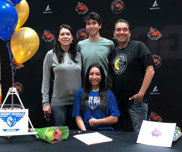 Greeley Central senior Micaela Hidalgo recently signed to play women's basketball for Embry Riddle University in Prescott, Ariz. (Courtesy/Greeley Central girls basketball's Twitter account)
