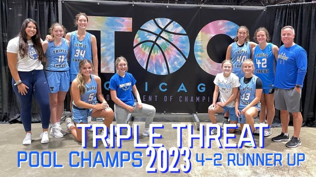 The NOCO Triple Threat's Class of 2023 girls basketball team went 4-2 to be the runner-up at the Nike Tournament of Champions on July 10-12 at the McCormick Place Convention Center in Chicago. (Courtesy/Todd Matkin)