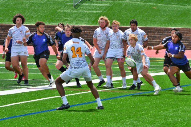 Weld Rugby competes in the Division II state championship against Eastside on June 26 at EchoPark in Parker. (Courtesy/Weld Rugby)