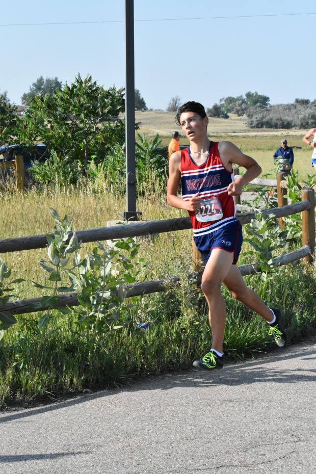 Northridge's Dominic Hess competes in the Windsor Invitational cross country meet Saturday at the Poudre Learning Center in Greeley. (Courtesy/Esmeralda Lucero-Reyna)