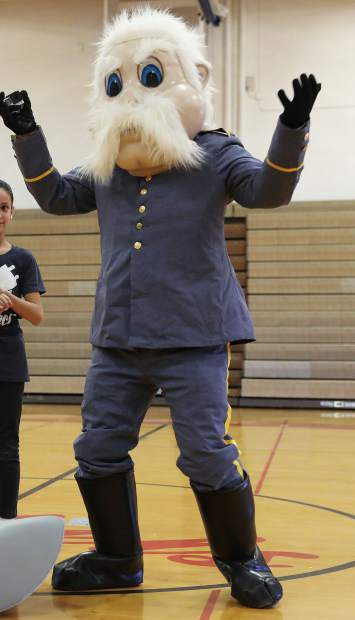 This January file photo depicts Weld Central Middle School's mascot.
