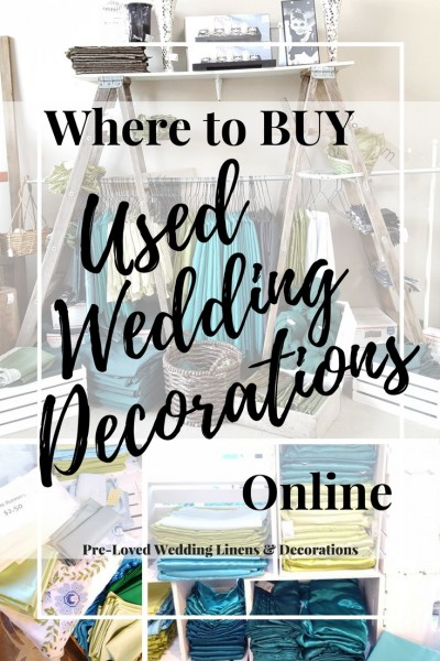 Where to buy Used Wedding Decorations online