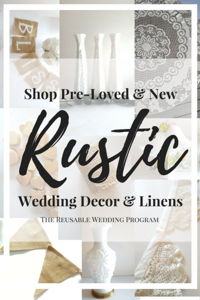 Where to buy Rustic Wedding Decorations online, New & Used, The Reusable Wedding Program. Rustic Weddings, Burlap Weddings.
