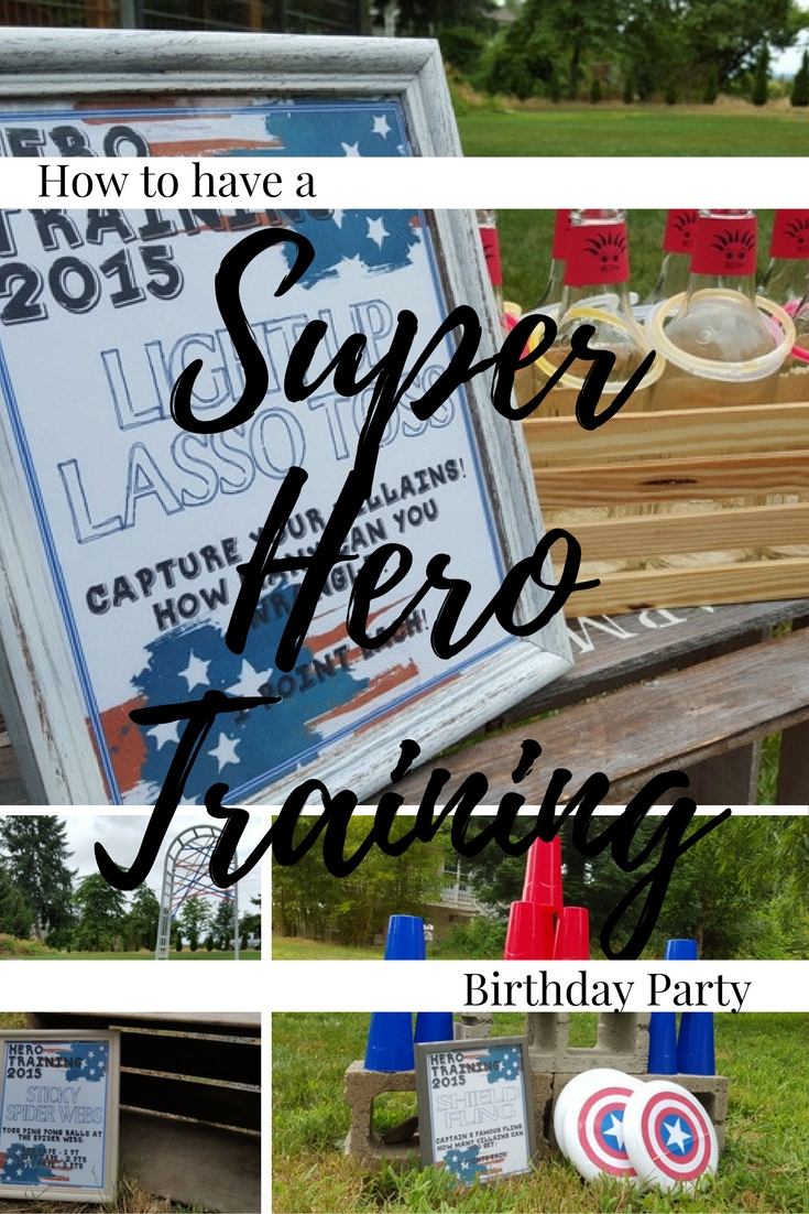 How to have a Super Hero Training Birthday Party