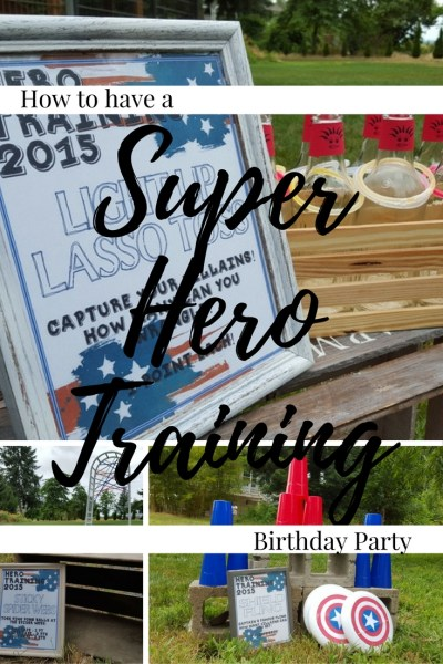 How to throw a Super Hero Training Birthday Party. Superhero Birthday Theme. DIY
