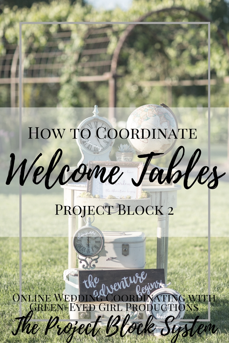 How to Coordinate Welcome Tables & Guest Books | Project Block 2