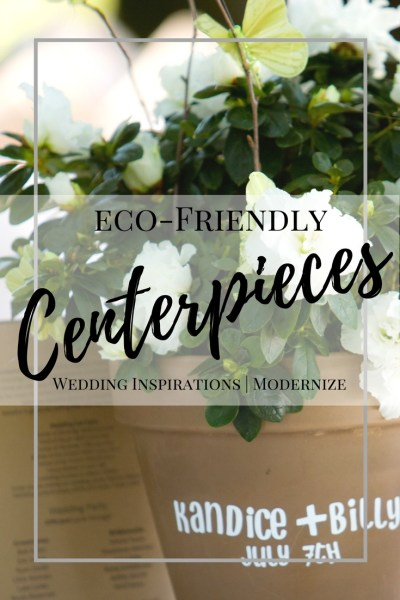 Eco-Friendly Wedding Centerpiece Ideas. Green Wedding Ideas.