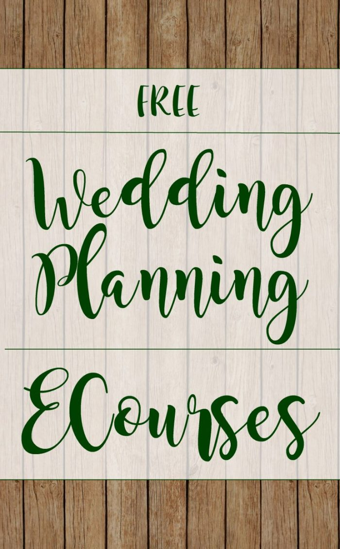 Need help planning your Wedding? We offer FREE Wedding Planning ECourses to help you get started!
