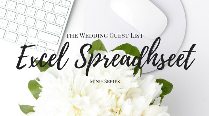 Wedding Guest List Excel Spreadsheet