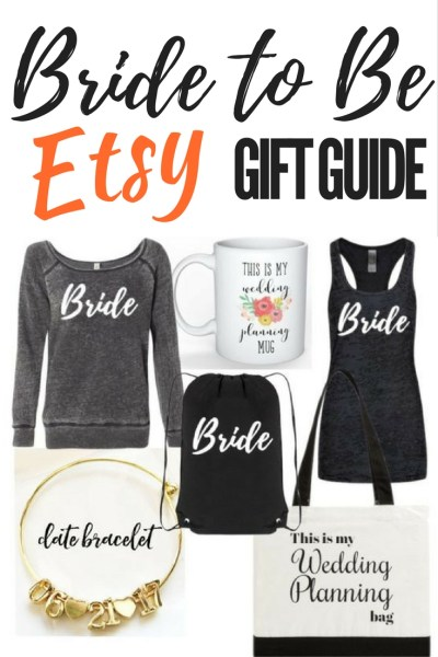 Bride to Be Etsy Gift Guide. Gifts for a Newly Engaged Friend. Bridal Shower and Engagement Gift Ideas. Wedding Gift Guide.