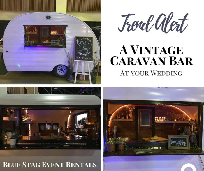 Mix it up with a Vintage Caravan Bar at your Wedding. Unique, Trendy Wedding Bar Ideas. Rent a Bar for your Wedding