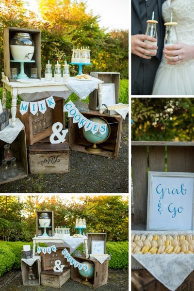The Adventure Begins Wedding Theme. Blue & Copper Wedding. Vintage Suitcases & Globes. The Oregon Garden. Milk and Cookies Bar. Wedding Cookies. Wedding Cookie Bar. Vintage Milk Bottles. Cookies at a wedding. Blue Wedding Ideas. Dessert Bar. Cookie Bar. Rustic Crates. Vintage Wedding Theme. Trendy. Travel Wedding Theme. Destination Wedding.