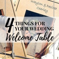 4 Things for your Wedding Welcome Table