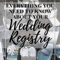 Everything you need to know about your Wedding Registry