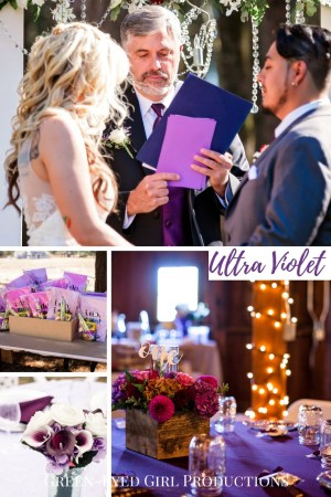 50 Ways to Use UltraViolet at your Wedding. Ultra Violet Wedding Details. How to USe Ultra Violet for your Wedding. Pantone COlor of the YEar. Ultra Violet Wedding Palette. Purple Wedding Details. UltraViolet Rustic Wedding. Easy ways to add colors to your Wedding. Wedding Colors. Purple Wedding Colors