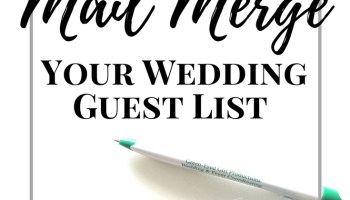 How To Make Your Wedding Guest List Excel Spreadsheet Green Eyed Girl Productions