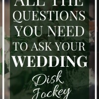DJ | All the Questions to ask your Wedding DJ