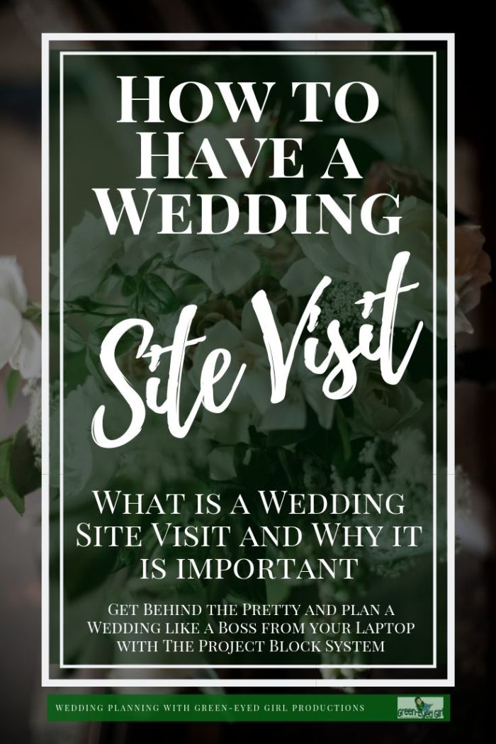 Wedding Site Visits are crucial to overall Wedding Planning success. Often, as a Wedding Planner I find myself taking 2 or 3 Site Visits to one venue just to make sure everything will run smoothly on the big day. If you're Planning a Wedding, schedule a trip out to your Wedding Venue and take a walk around with a few specific questions in mind.
