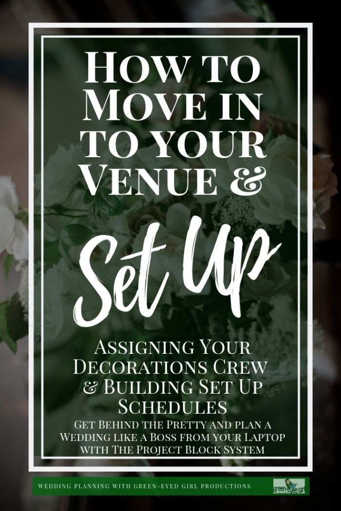 How to Set Up Your Wedding Venue like a Pro. This Wedding Workshop covers how to assign your Decorations Crew Leader delegate your decorating and build timelines.