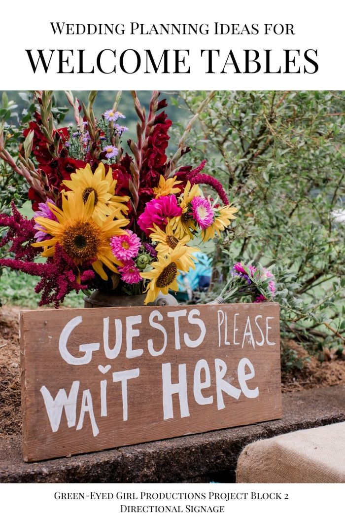 Moving guests to 2 locations is easier with the proper signage.  Rustic Farm Wedding.  . Your Wedding Welcome Entrance is the first thing guests see when they arrive on your big day. In this post I'm covering Wedding Welcome Sign Ideas, Fun Ceremony Props to give to guests and more Wedding Welcome Entrance Decor.