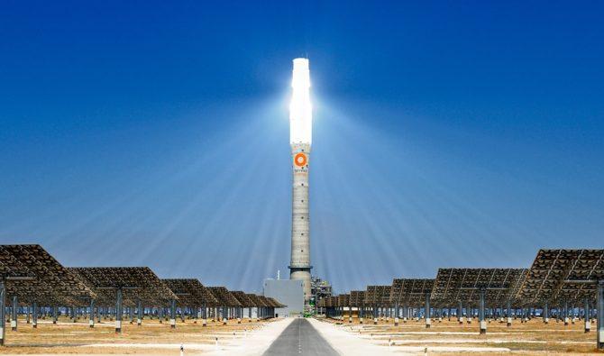 skoncentrowana energia słoneczna wieża słoneczna