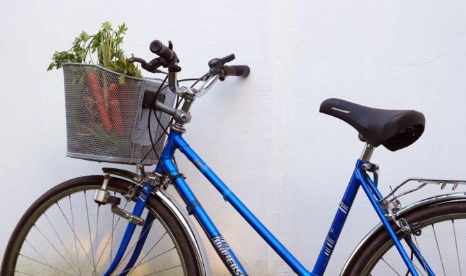 zakupy na rowerze koszyk rowerowy