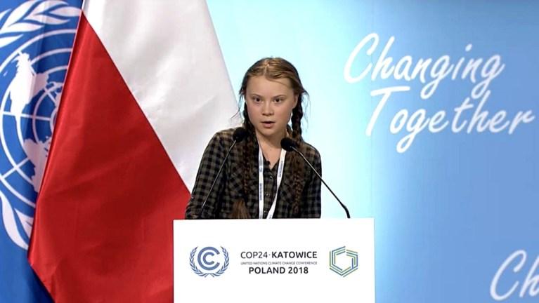 wystapienie Greta Thunberg COP24