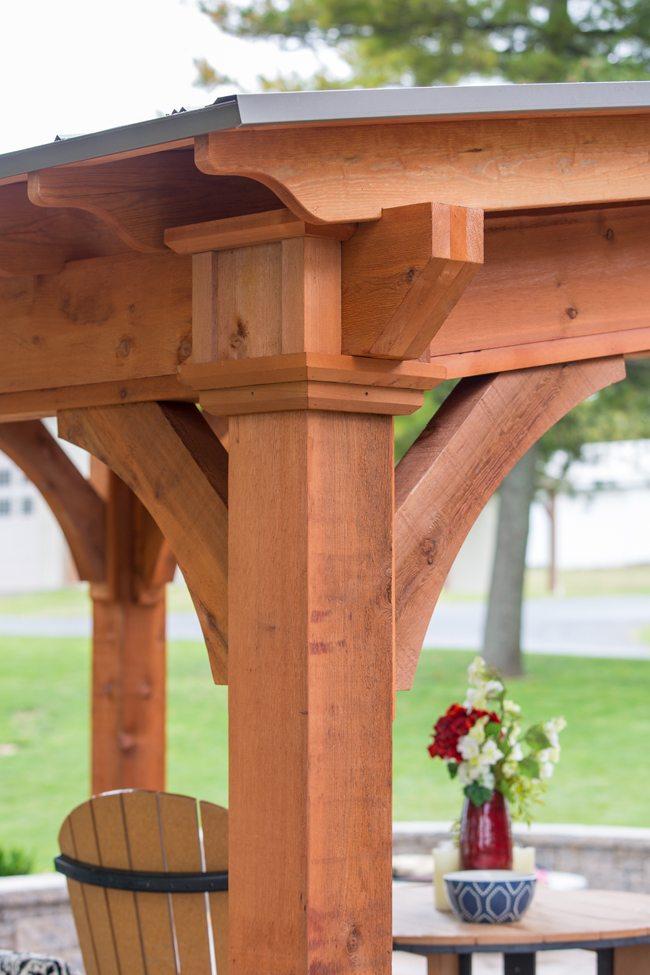 Santa Fe Wooden Pavilion Green Acres Outdoor Living