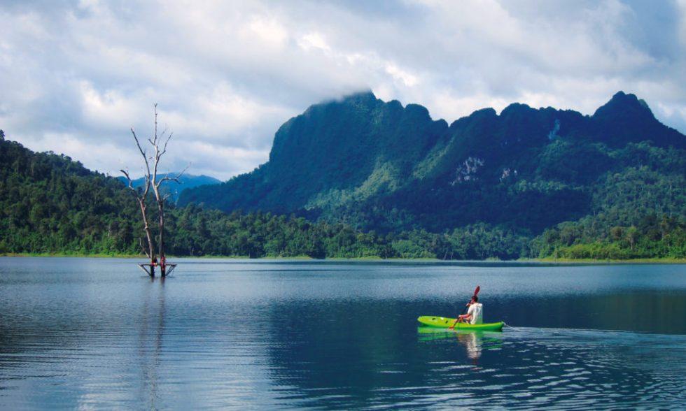 Kayaking Khao Sok Lake on one of our Khao Sok tours