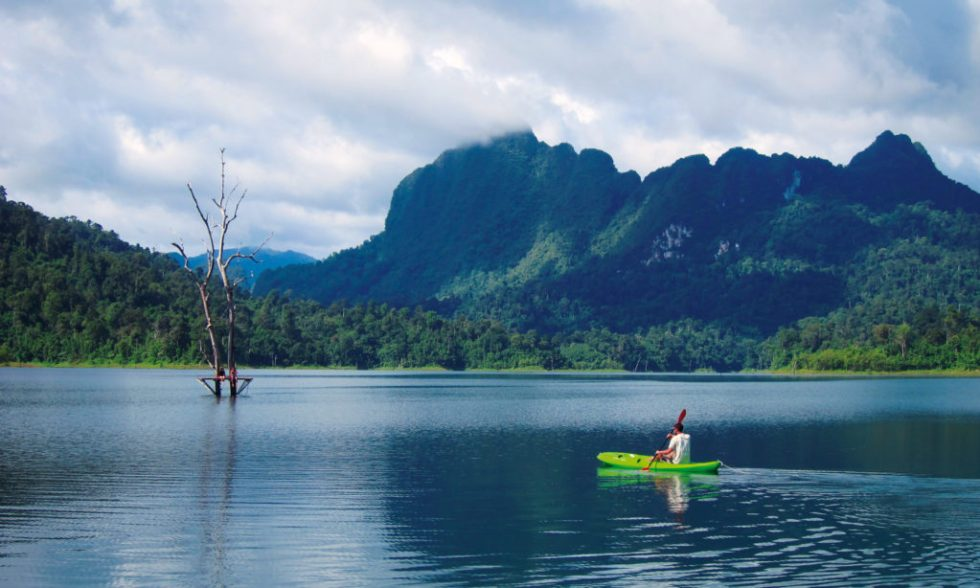 Kayaking at Khao Sok Lake