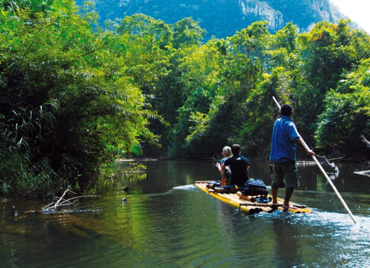 Bamboo Rafting with Green Andaman Travel