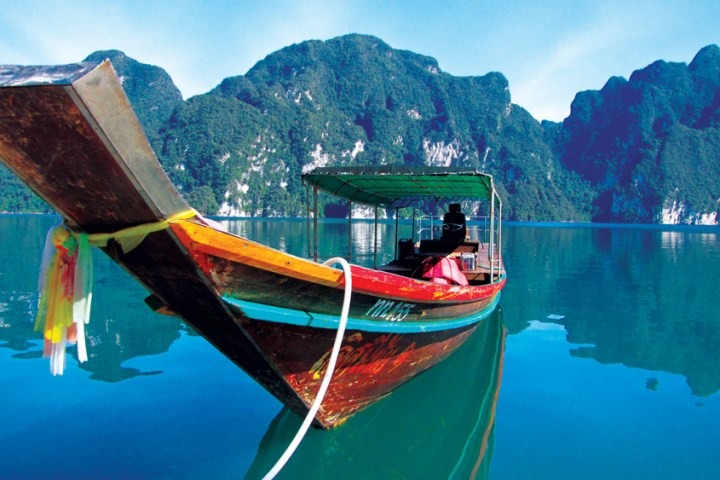 Experience a traditional Thai longtail boat on our Khao Sok Tour