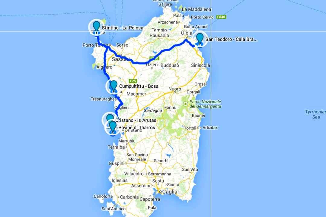 sardinia beaches map