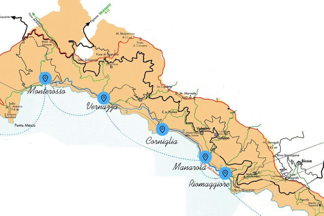 cinque terre map travel