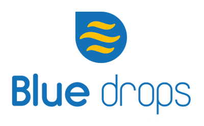 bluedrops logo webdesign, brochure