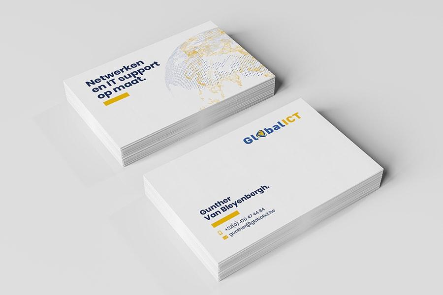 visitekaartjes laten ontwerpen Global ICT