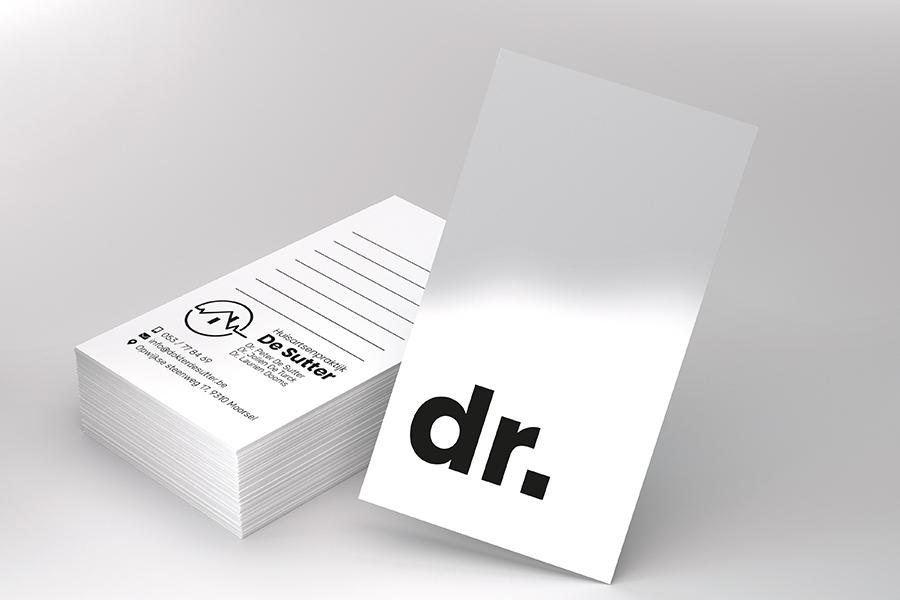 ontwerp visitekaartjes dokter de sutter