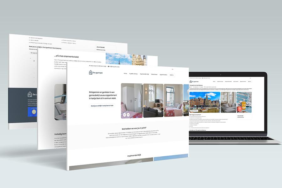 webdesign Gent the apartment