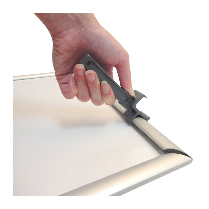 tamper proof security aluminium snap frame ref asfs sa