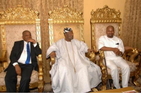 Orji Kalu, Oba Oyewumi and Bayo Fatusin